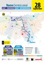 Recorrido de la ruta A507-G507