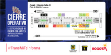 Plano de estación Calle 45
