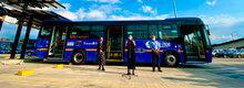 Rueda de prensa entrega de flota de buses eléctricos