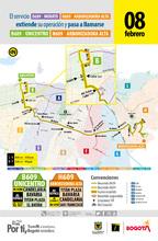 Cambios en la ruta D609 Morato – H609 Arborizadora Alta