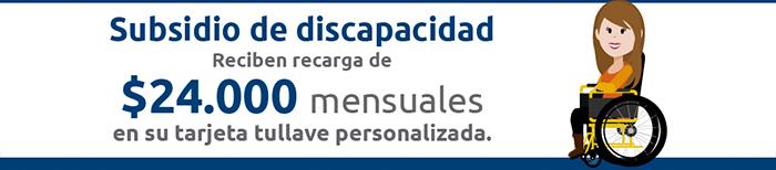 Subsidio para personas con discapacidad