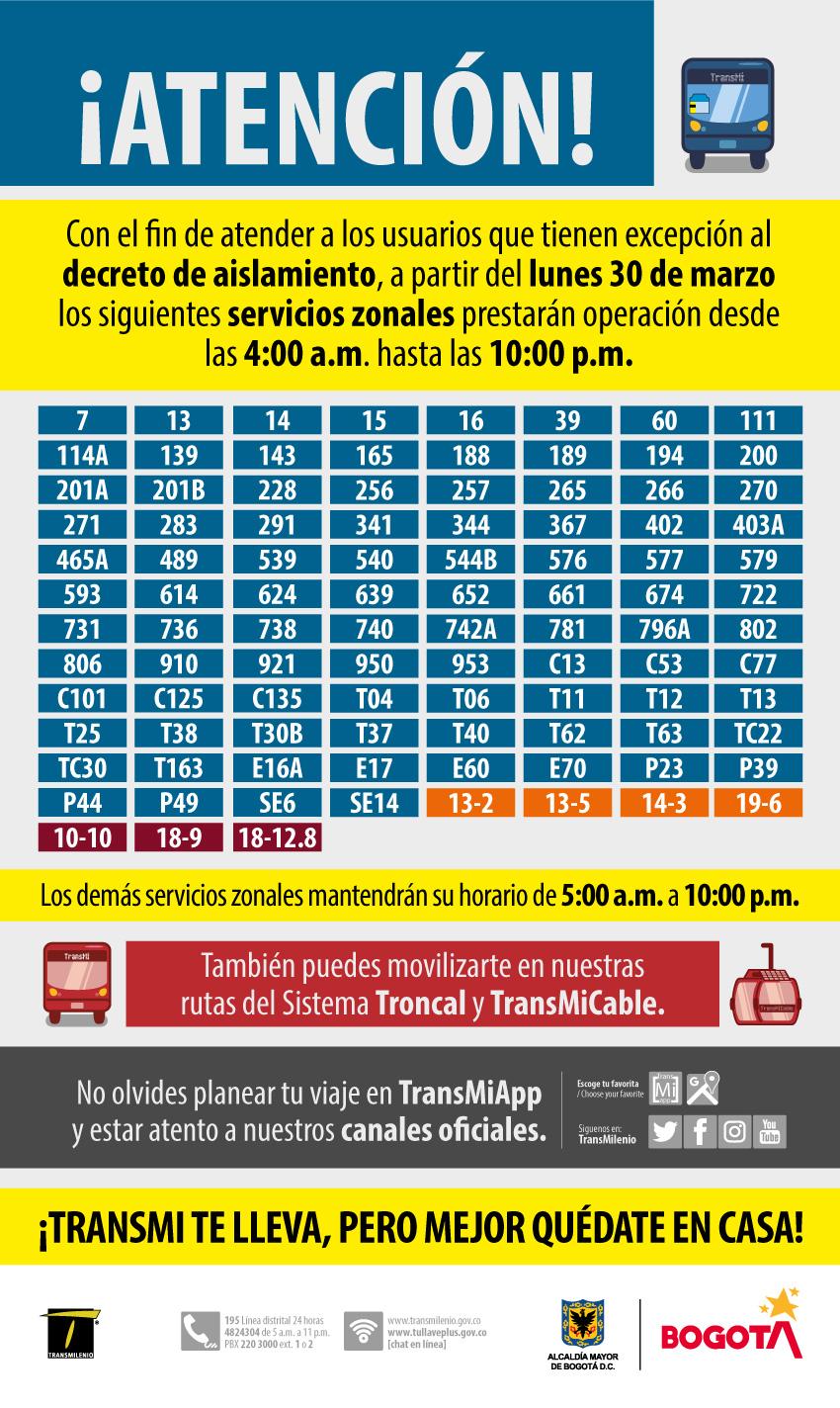 Rutas urbanas que cambian  su horario debido a la contingencia  de la cuarentena