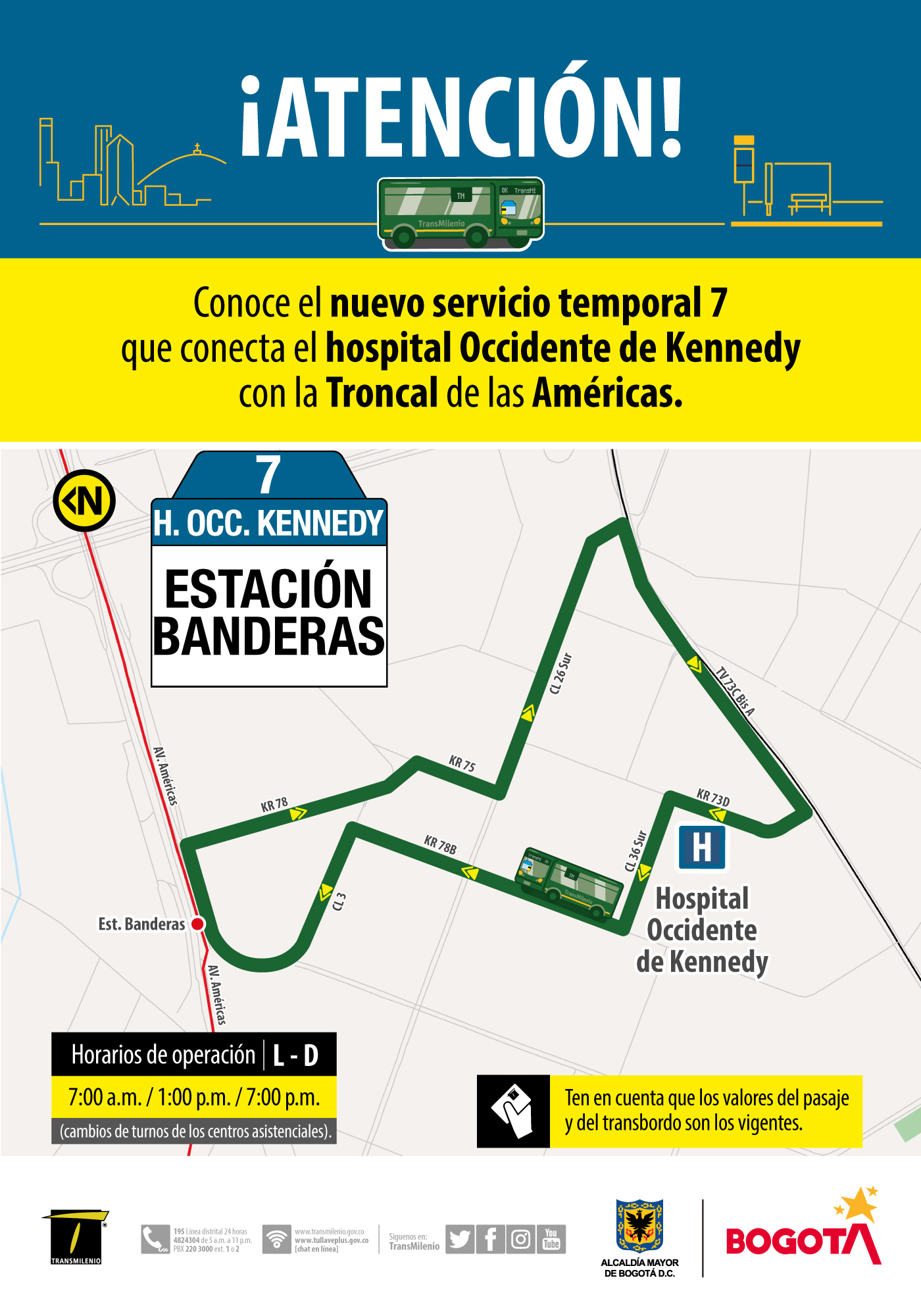 Ruta 2, servicio urbano Hospital occidente Kennedy