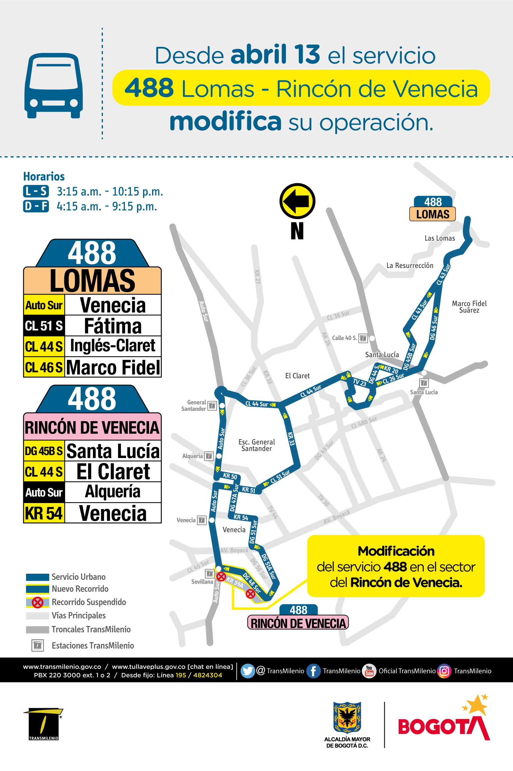 Mapa de la ruta 488  Lomas -Rincón de Venecia