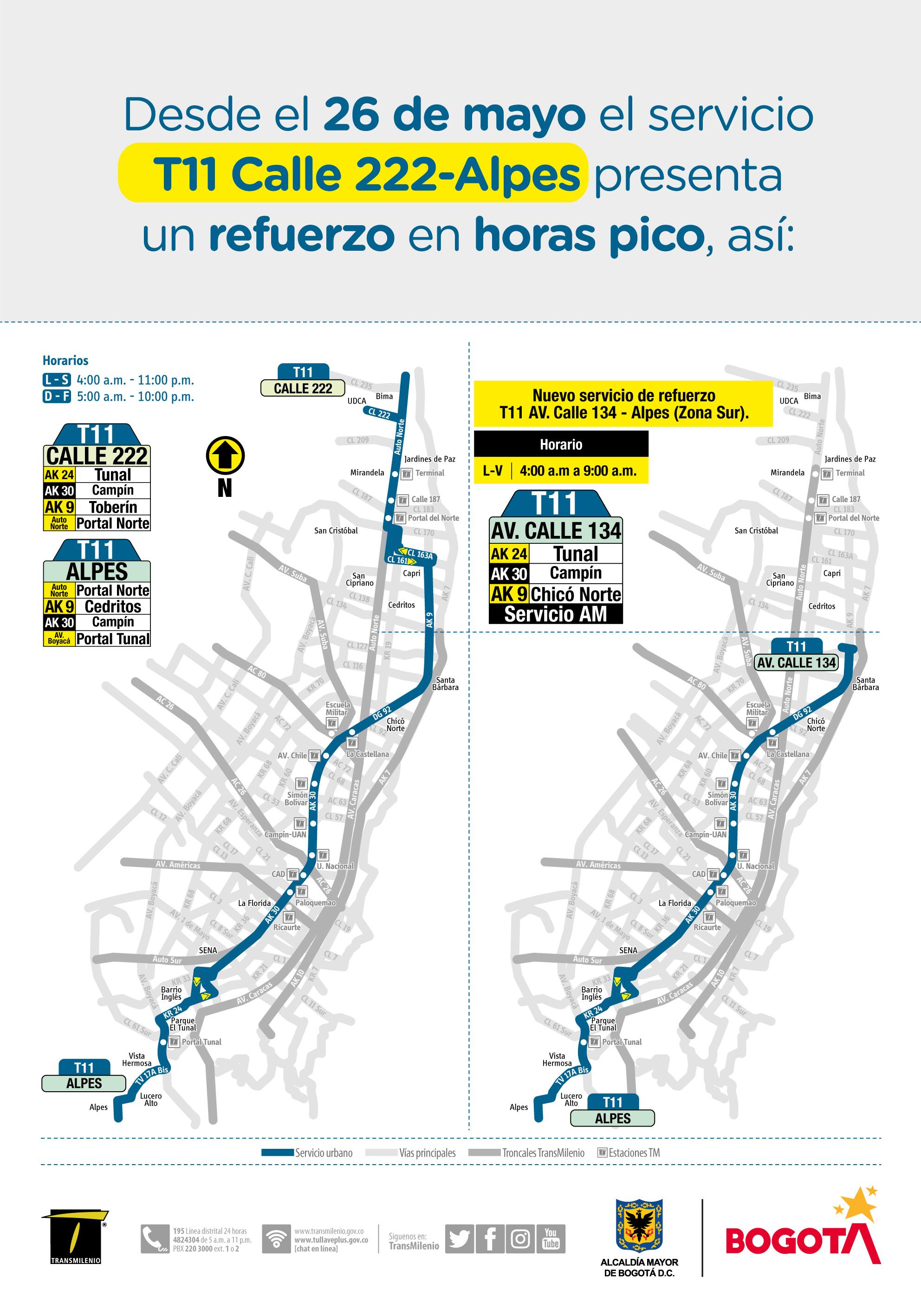 La Ruta Zonal T11 Calle 222 Alpes Tendra Modificaciones