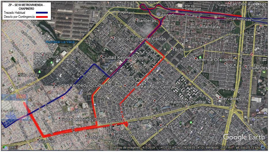 Mapa ZP SE10 Metrovivienda Chapinero