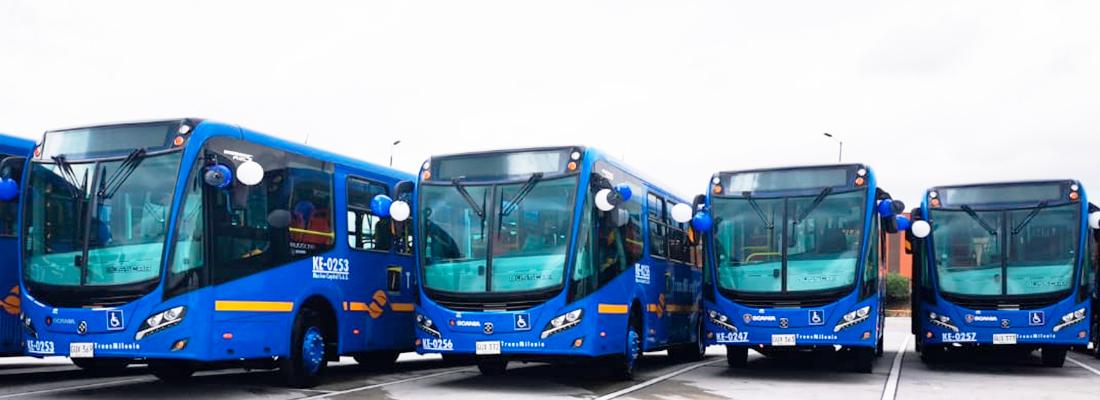 Buses zonales nuevos última tecnología con estándar de emisión Euro VI