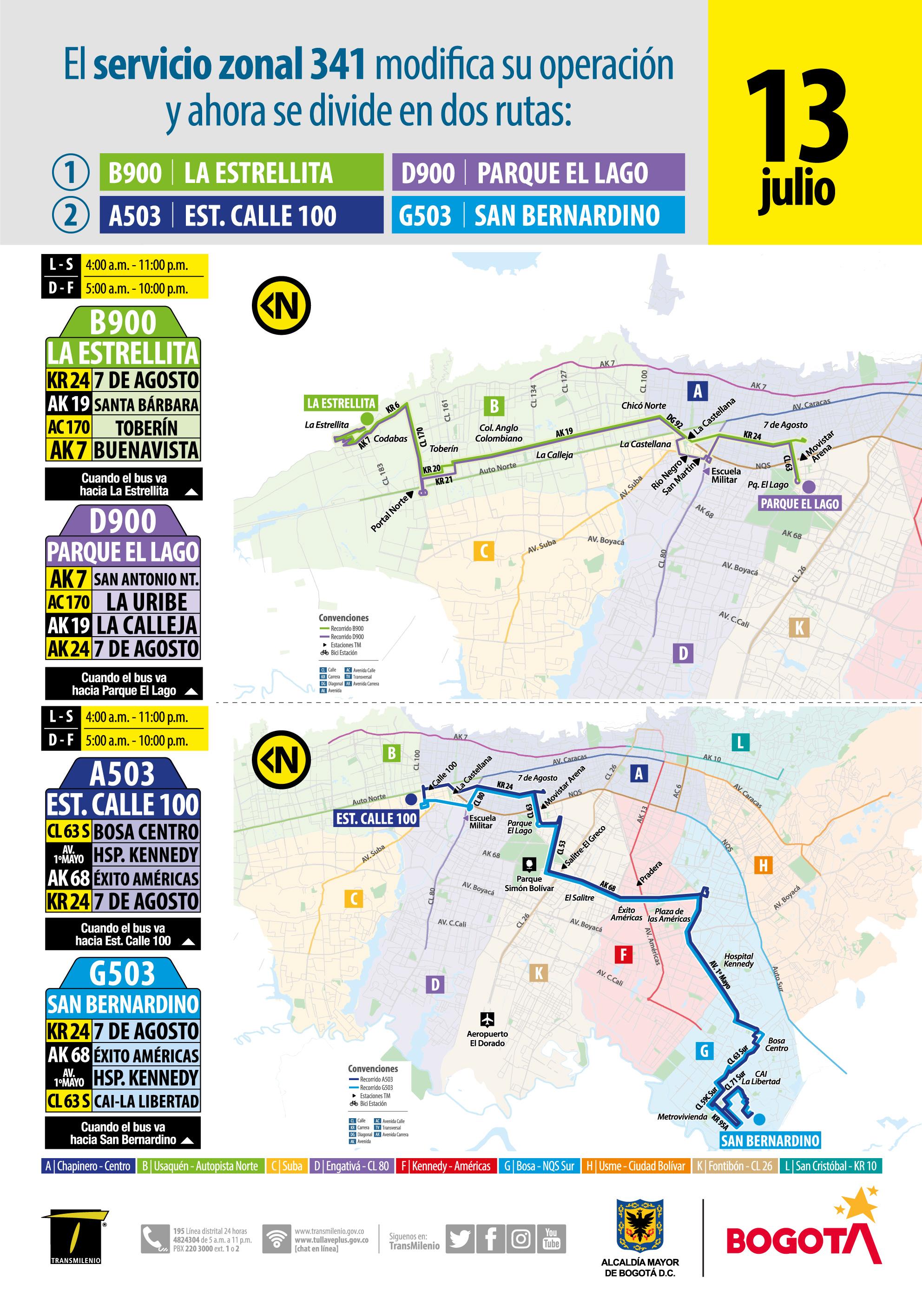 Mapa de la ruta B900-D900-A503-G503