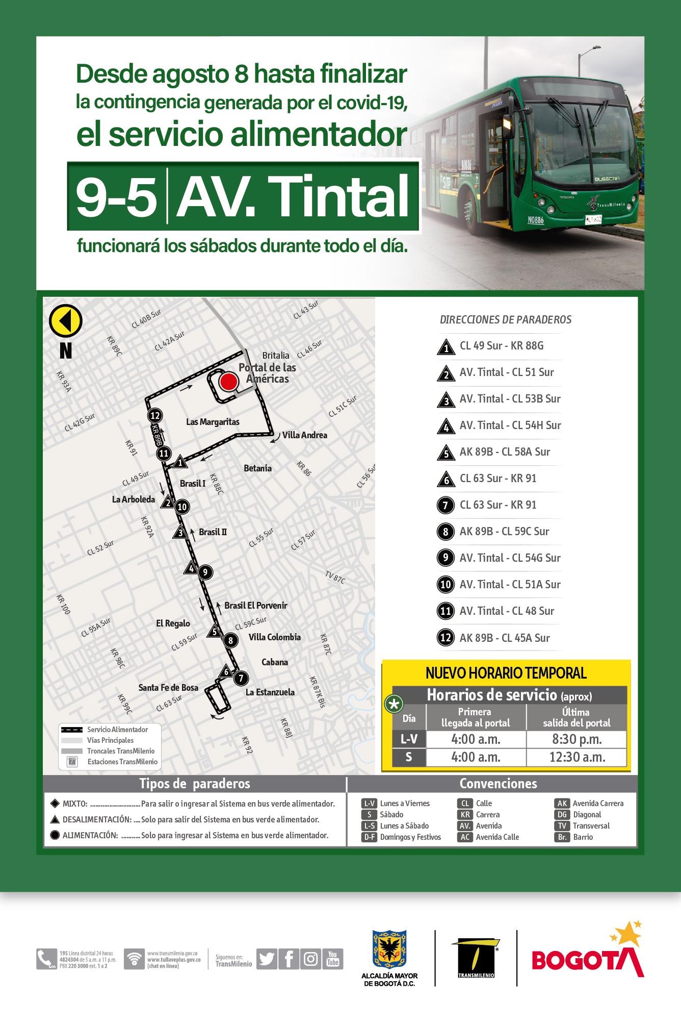 Mapa de la ruta 9-5