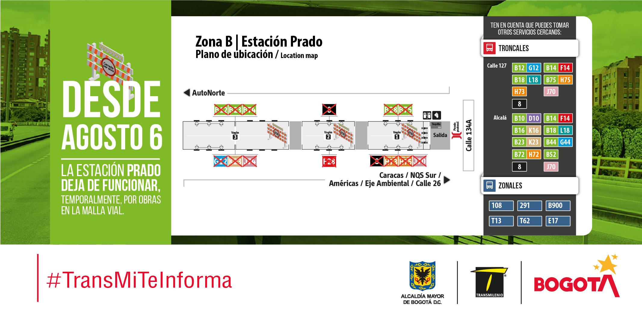 Plano de estación de Prado