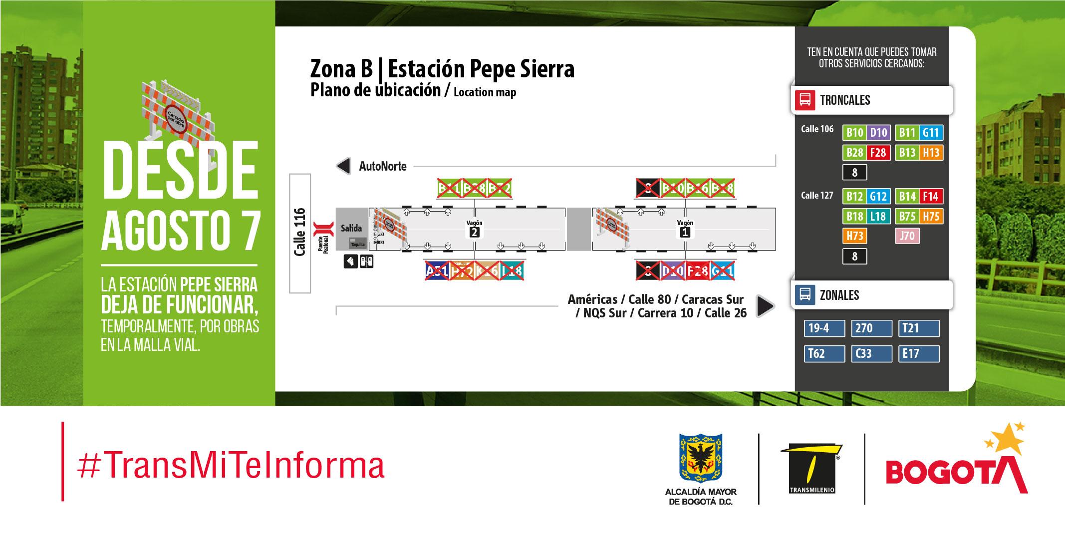 Plano de estación Pepe Sierra