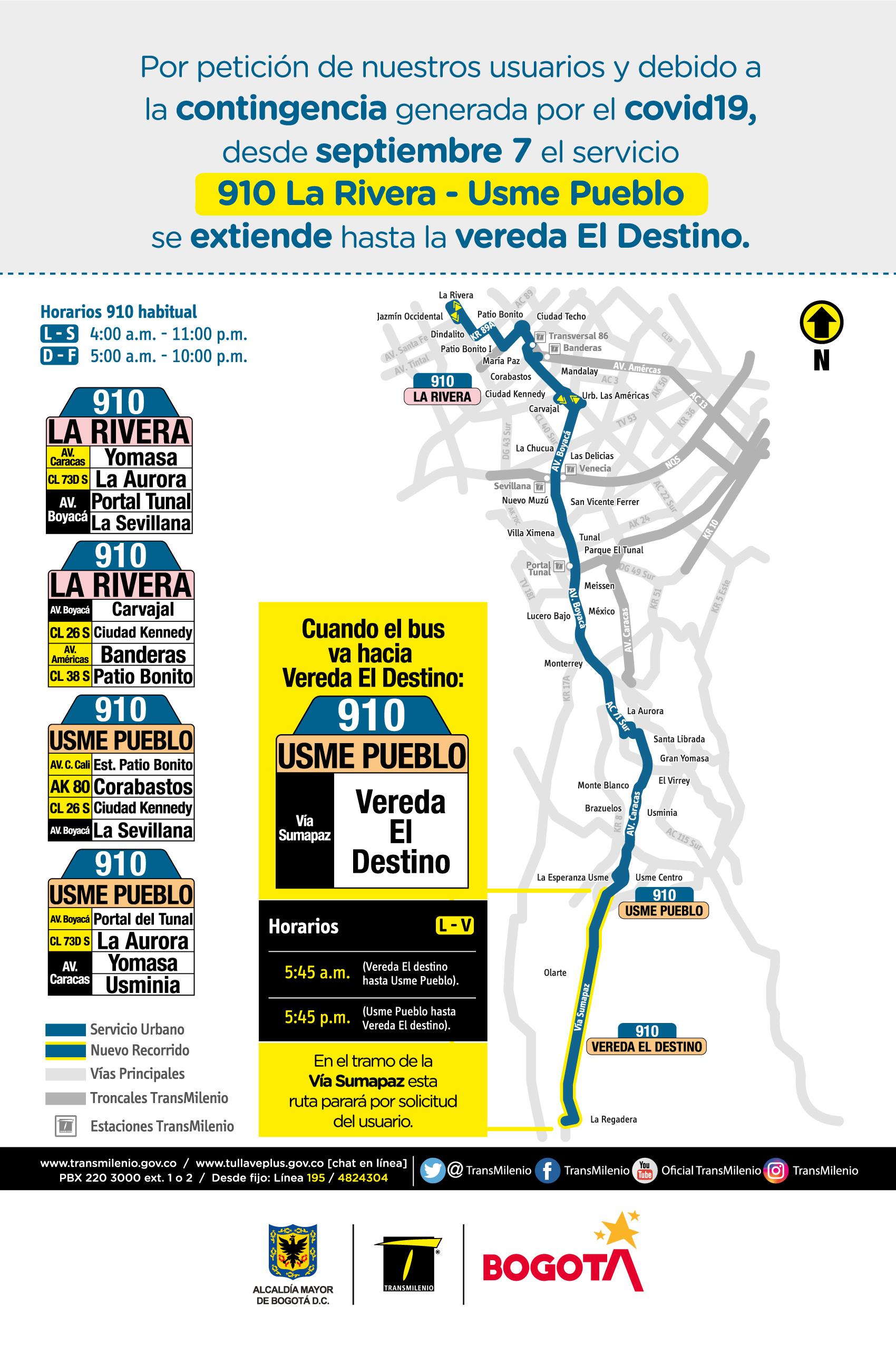 Mapa de la ruta 910 con novedades en su trayecto