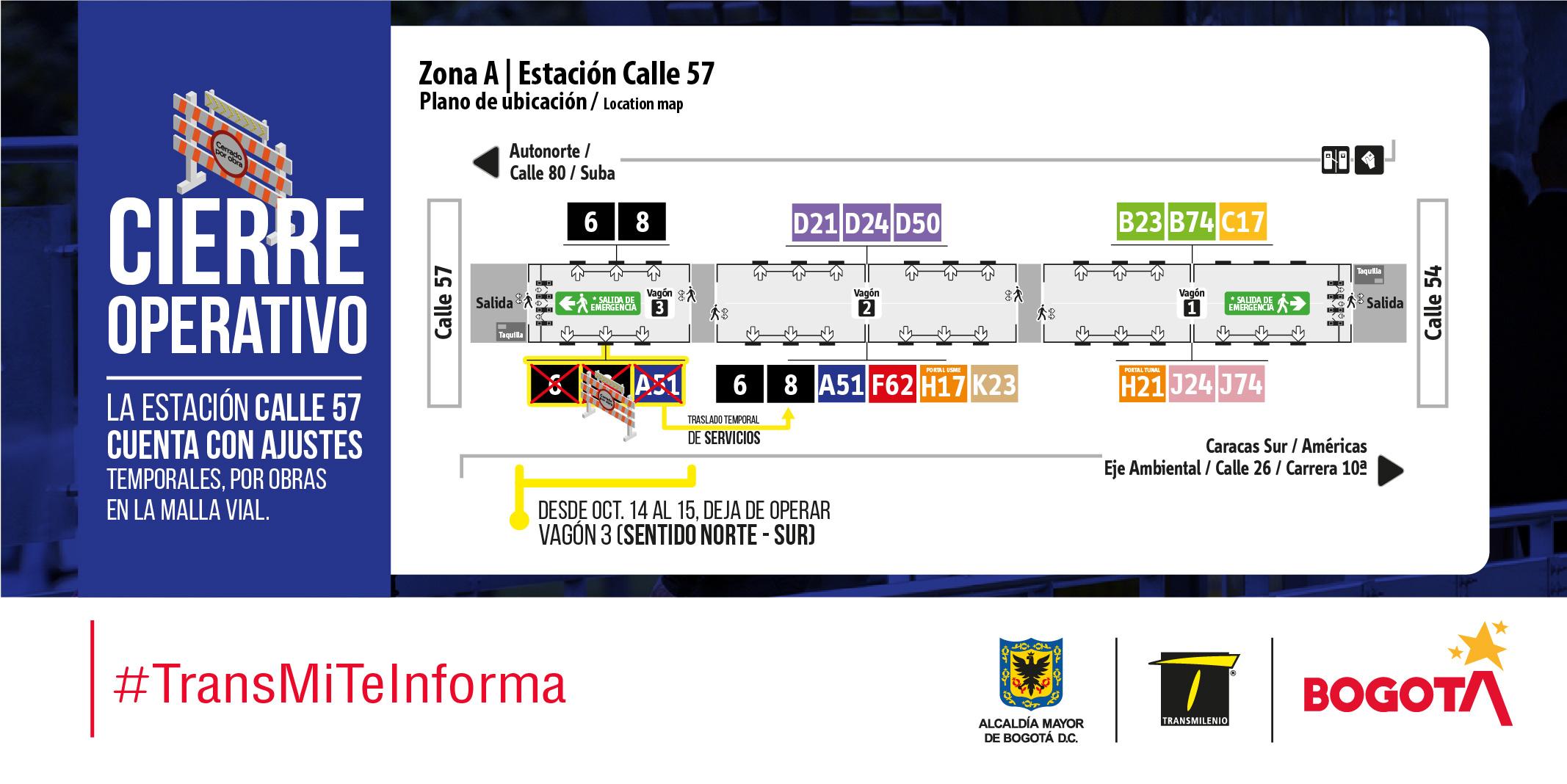 Plano de estación Calle 57