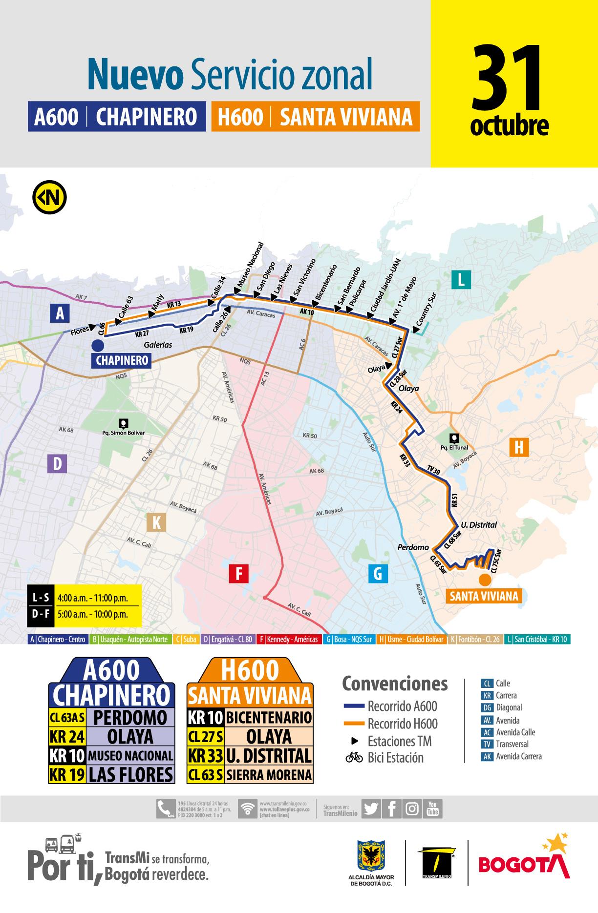 Mapa de la ruta AH600