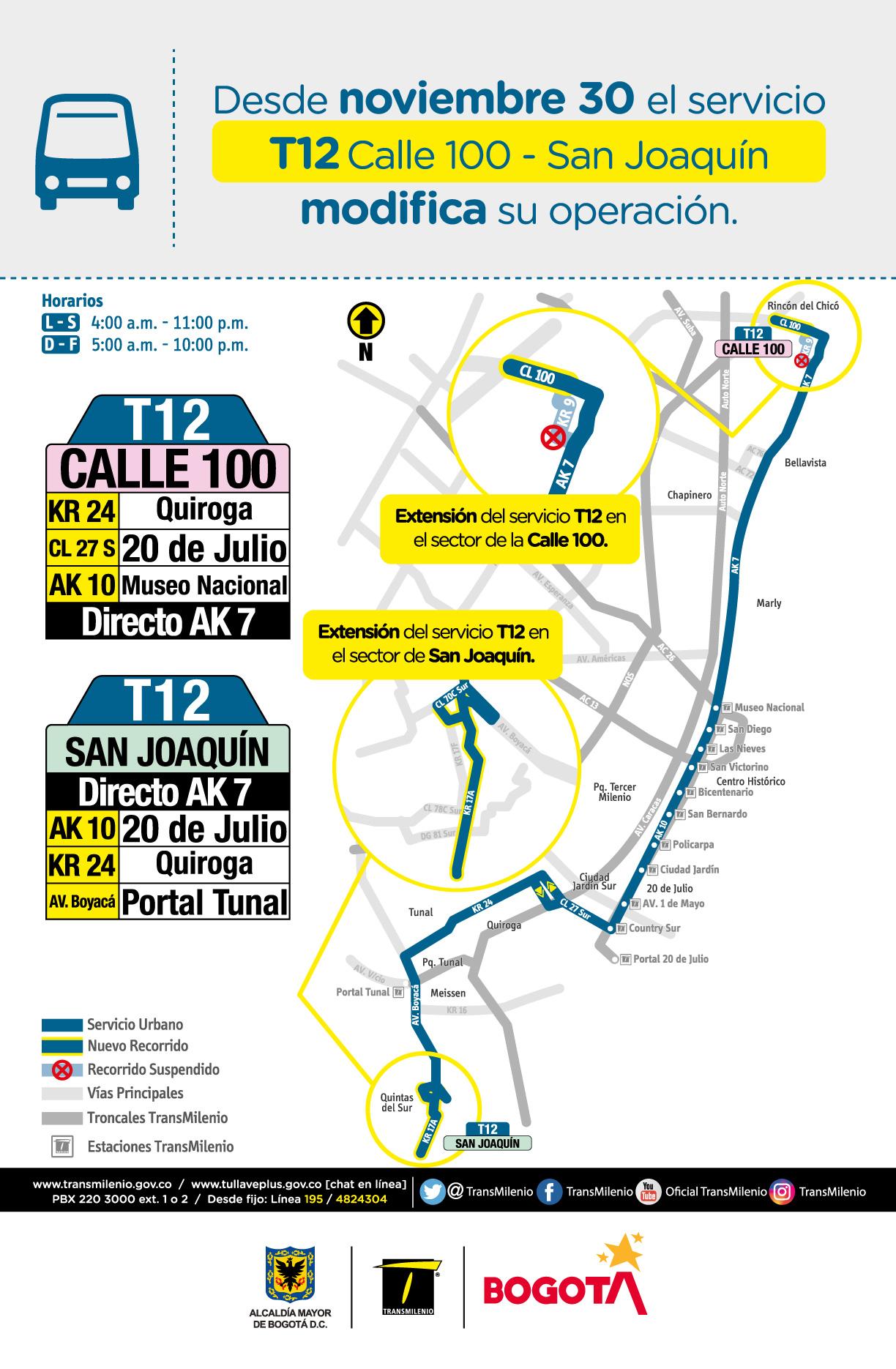T12 Calle 100 - San Joaquín