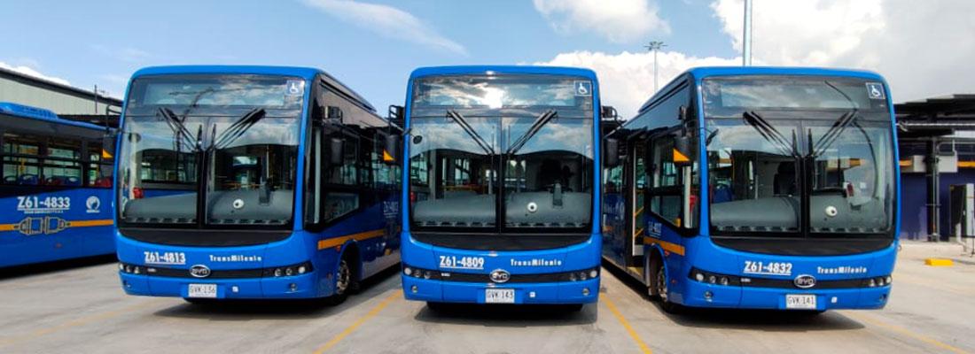 Flota de buses eléctricos