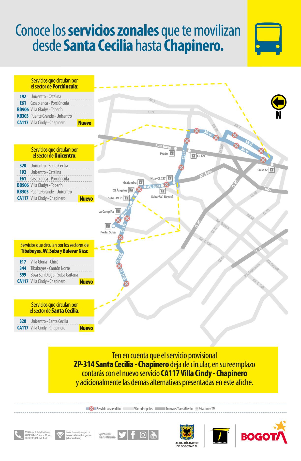 Servicios que te movilizan desde Santa Cecilia hasta Chapinero