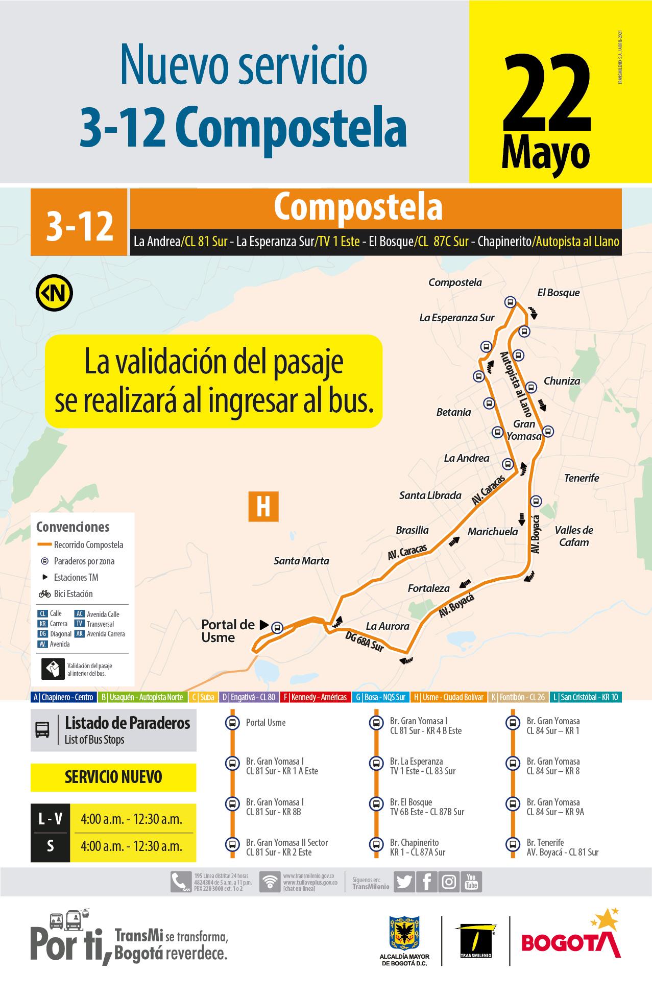 3-12 Compostela (Nuevo Servicio)