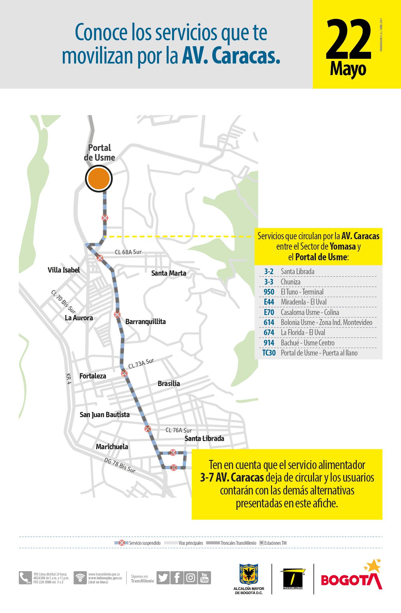Servicio 3-7 Avenida Caracas