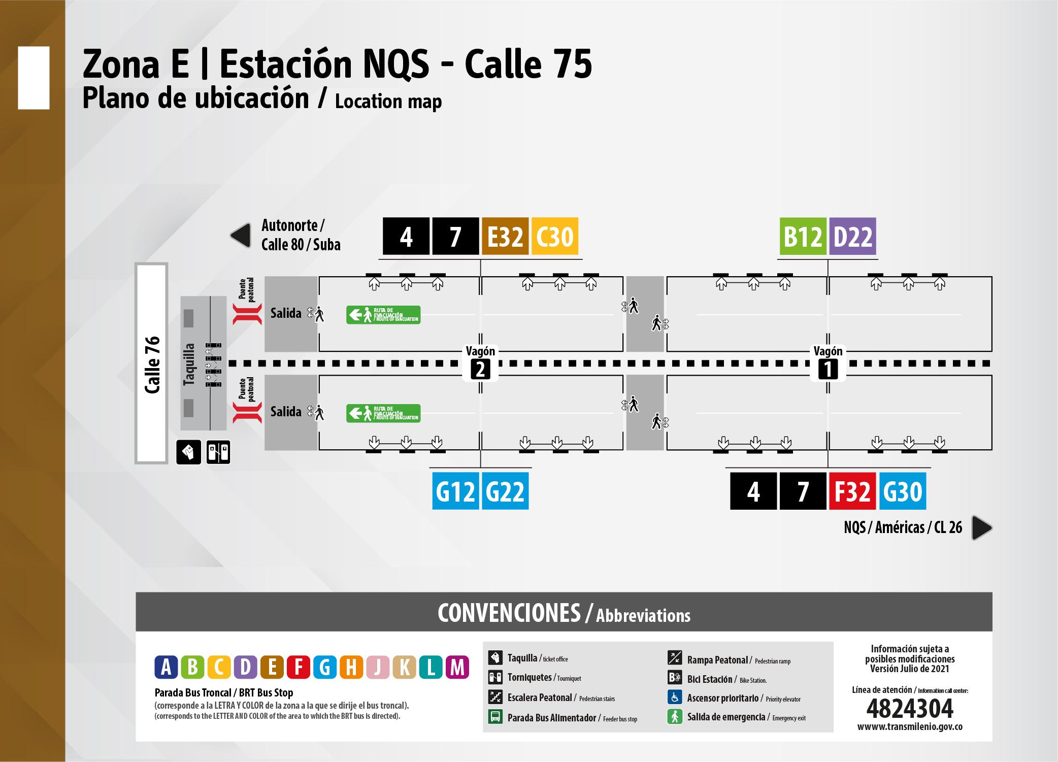 Estación NQS - Calle 75