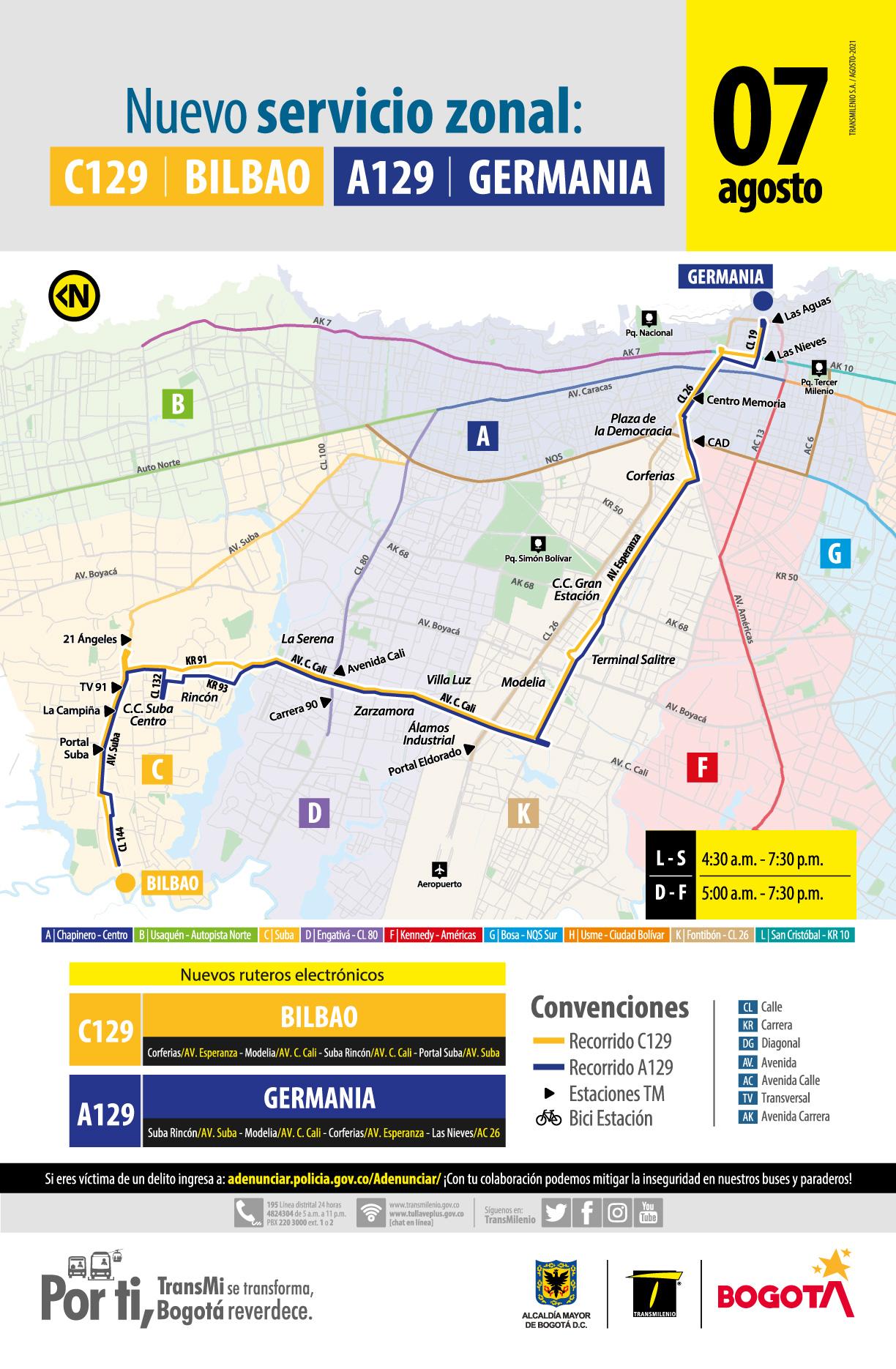 C129 Bilbao – A129 Germania