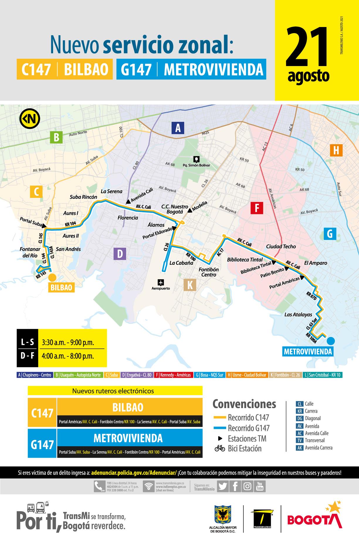 C147 Bilbao – G147 Metrovivienda