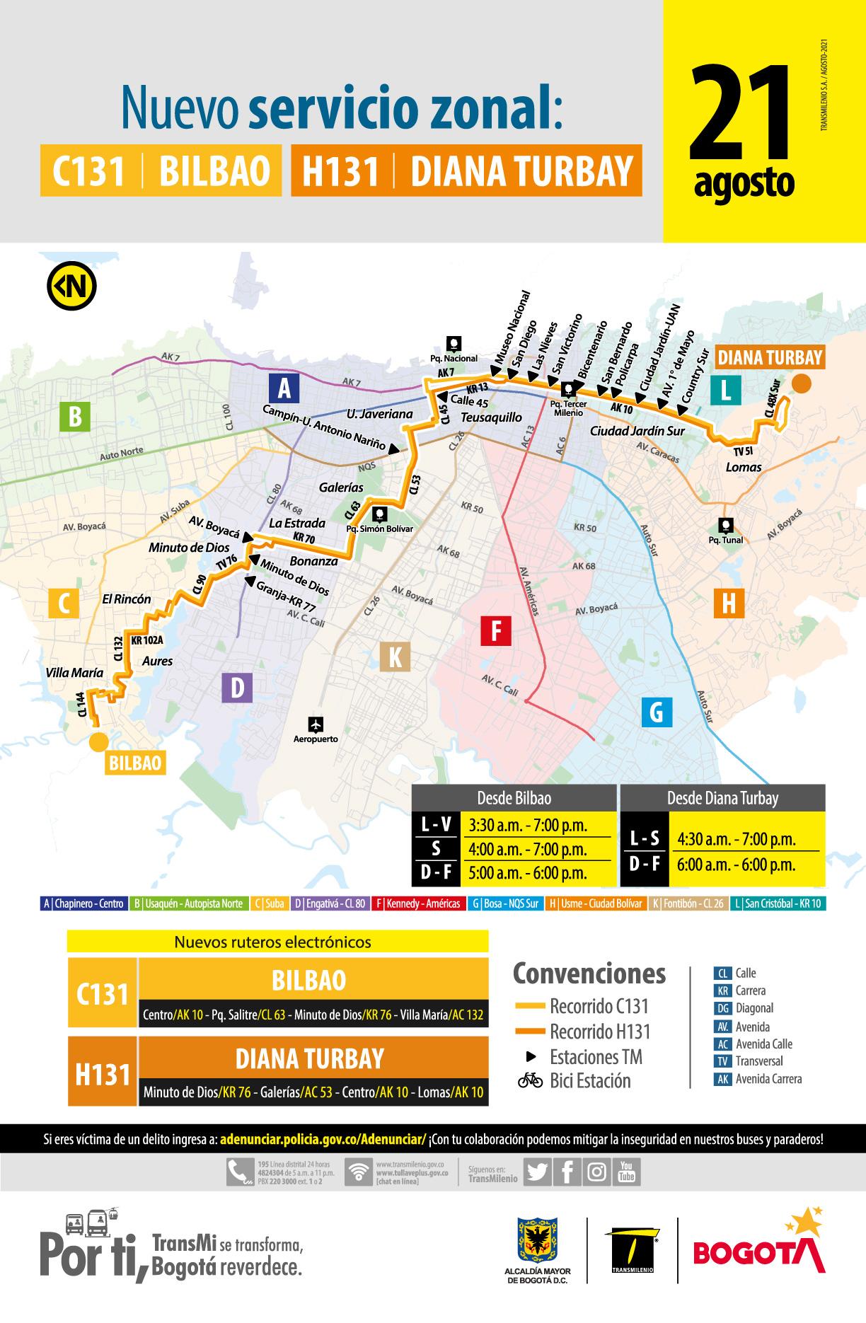 C131 Bilbao – H131 Diana Turbay