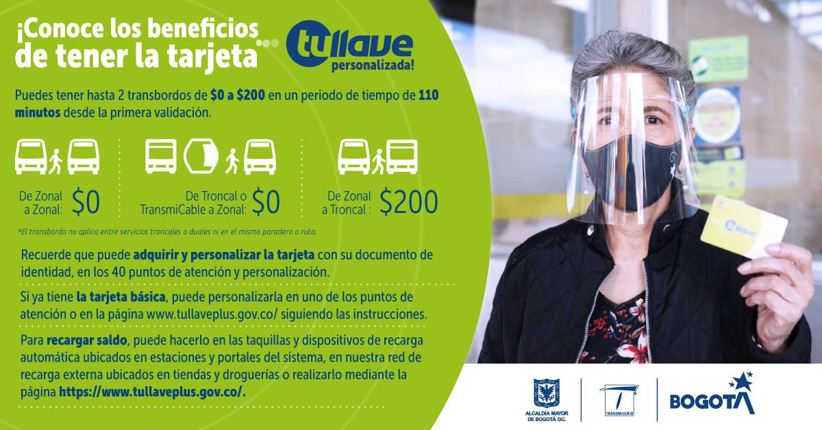 Beneficios tarjeta Tullave personalizada