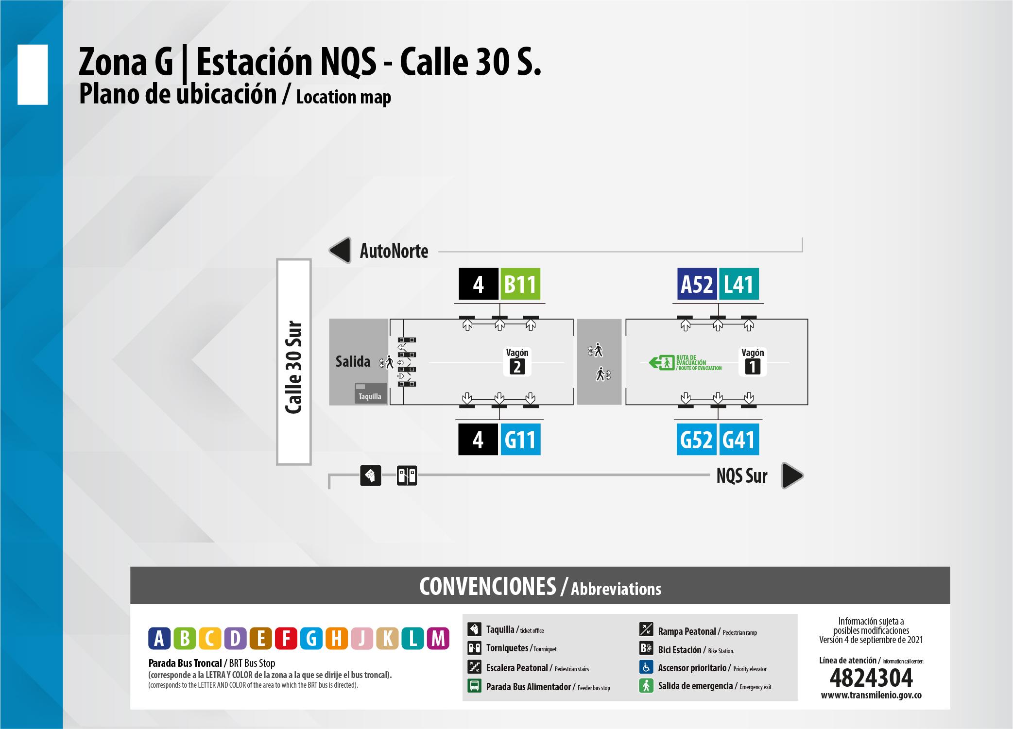 Estación NQS - Calle 30 sur