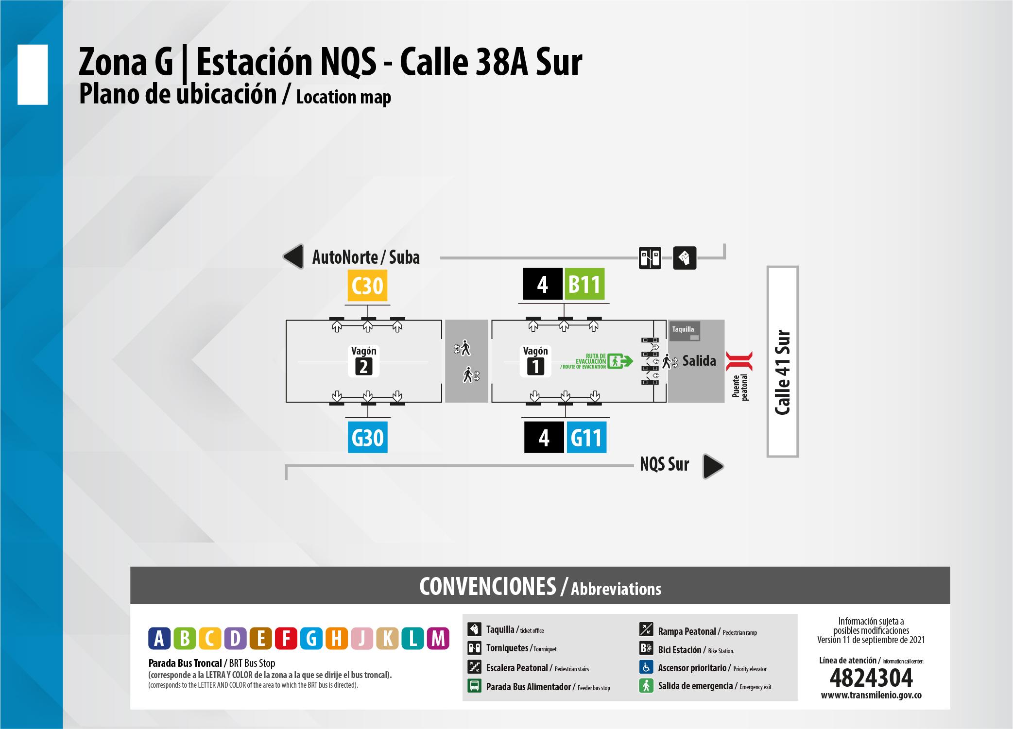 Estación NQS Calle 38A Sur amplia su vagón