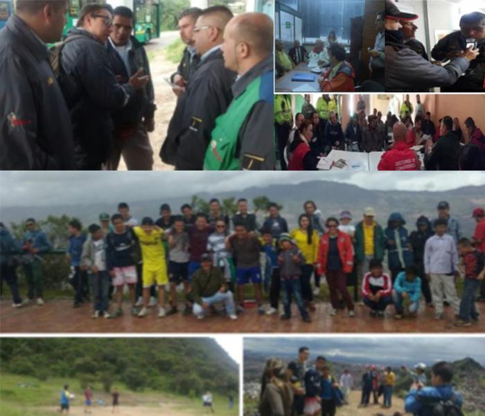 La empresa concesionaria ORGANIZACIÓN SUMA realizó brigadas de prevención y sensibilización en la localidad de Ciudad Bolívar a los operadores