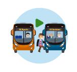 Personaje ilustrado en Transbordo de complementario a zonal