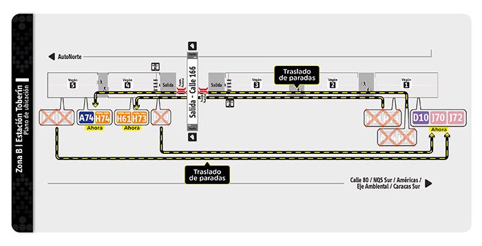 Plano de la estación Toberín