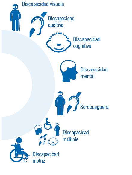 Infografía tipos de movilidad reducida Permanante