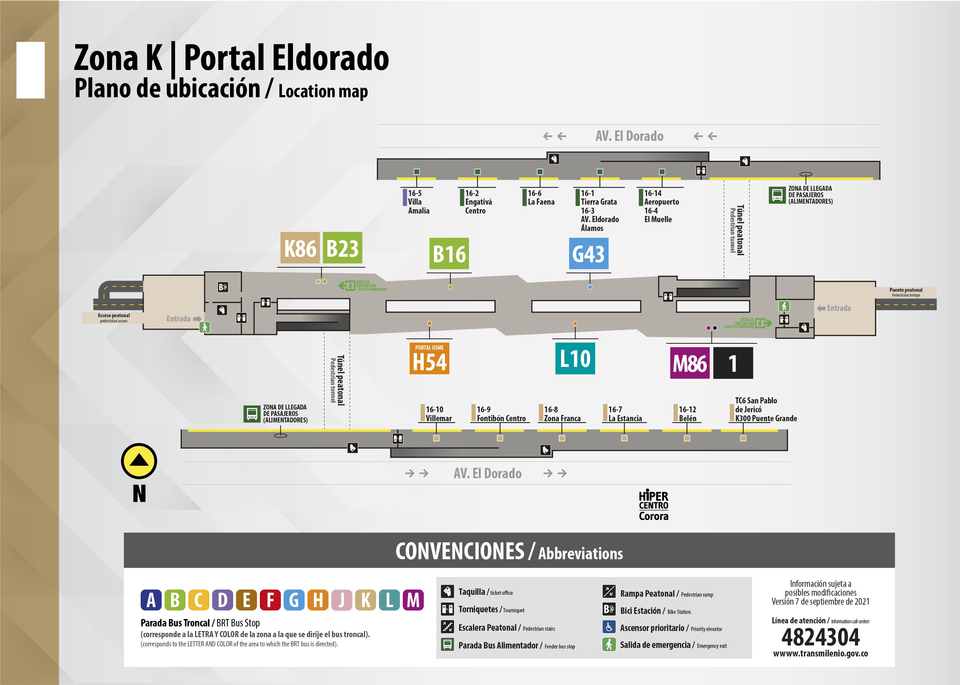Plano del portal ElDorado