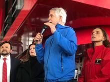 Alcalde Enrique Peñalosa en la inauguración del TransMiCable