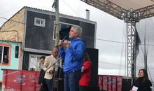 Alcalde Enrique Peñalosa en el marco de la inauguración del TransMiCable