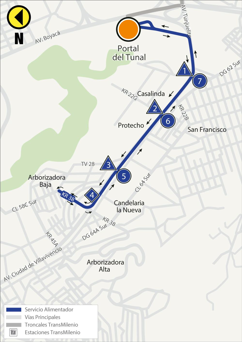 Rutas Alimentadoras 6 1 6 1c 6 3 Y 6 6 Del Portal Tunal Modifican Sus Recorridos