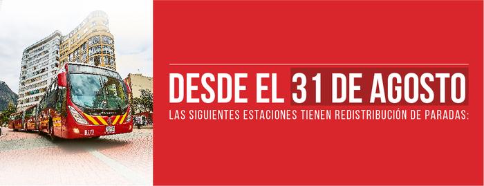 Algunas Estaciones de TransMilenio tendrán cambios en sus paradas