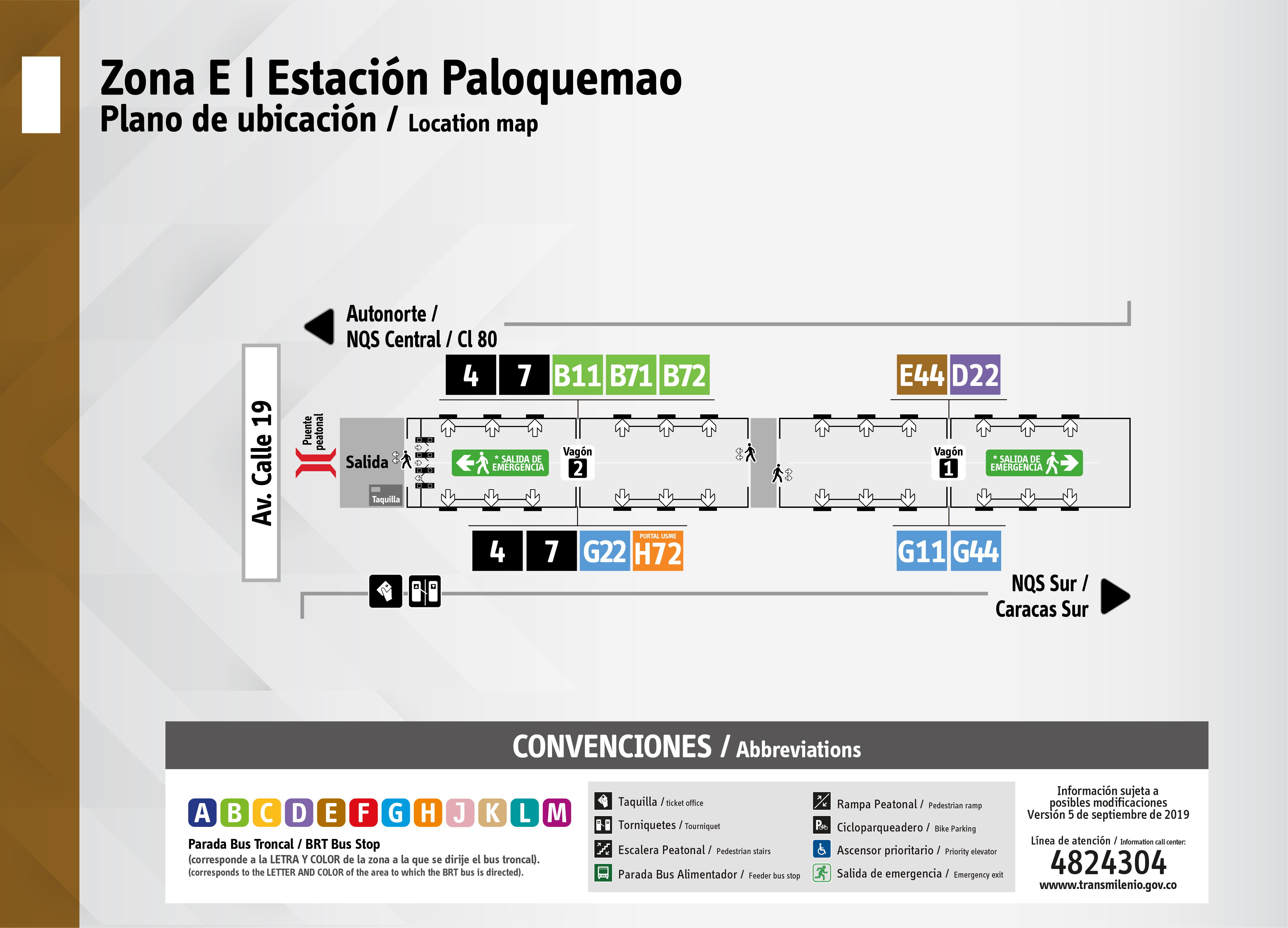 Plano de estación Paloquemao