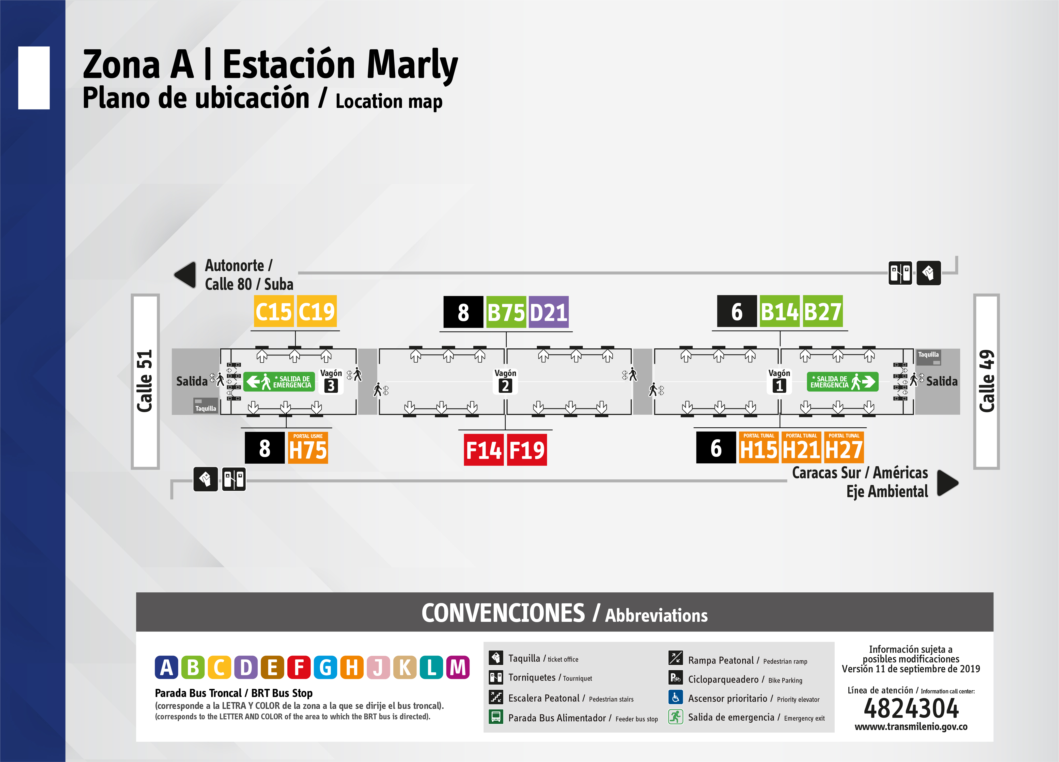 Plano de estación de Marly