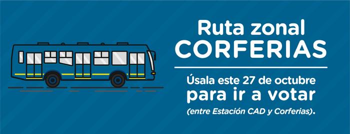 Se habilita la ruta zonal Corferias para las votaciones de este 27 de octubre