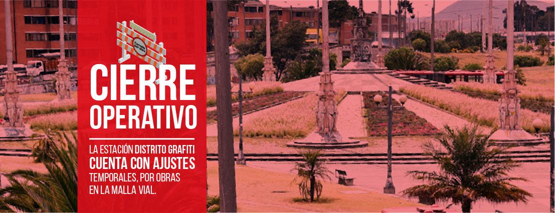Ten presente los cambios operativos en la estación Distrito Grafiti