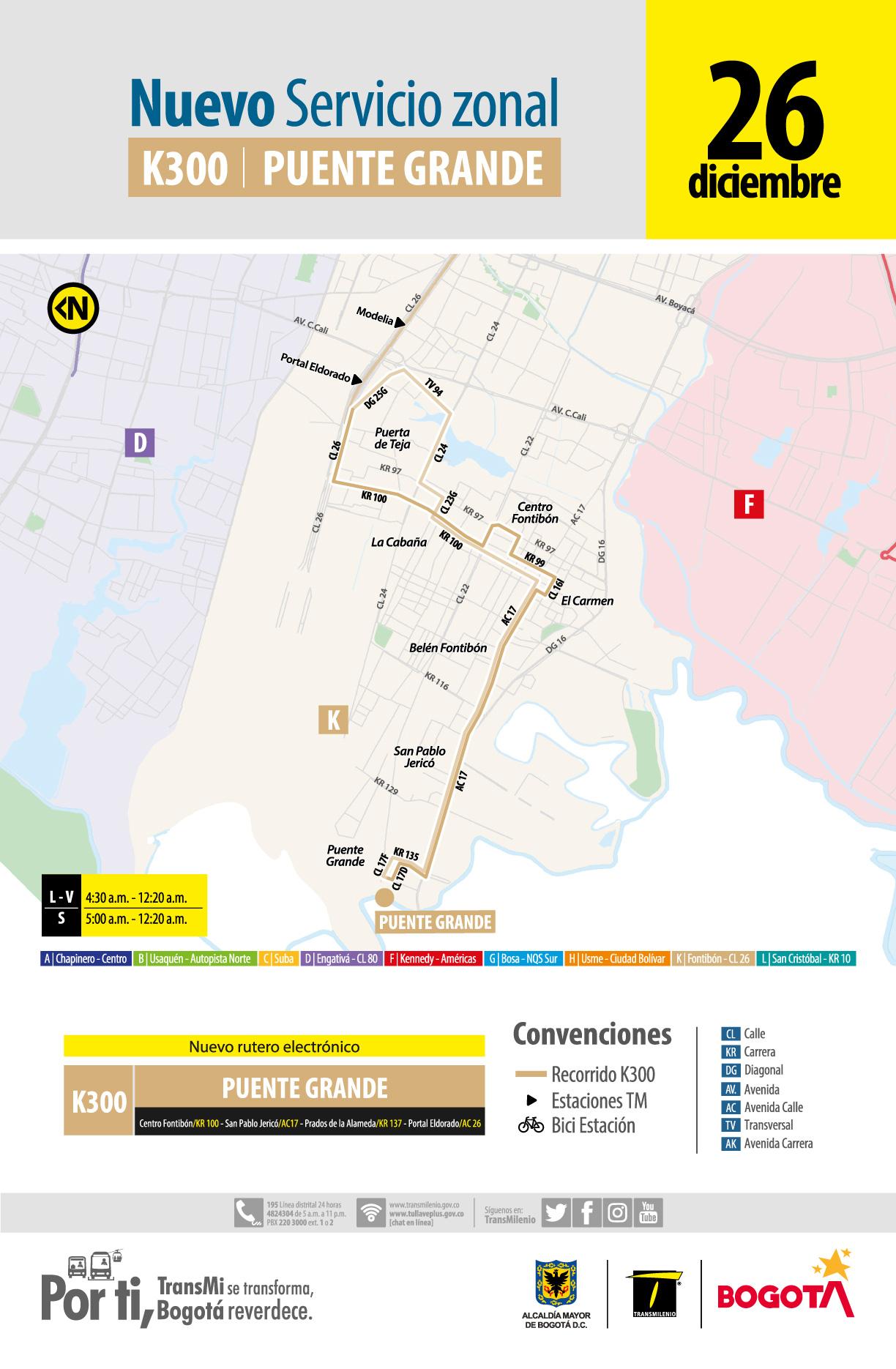 Afiche ruta K300