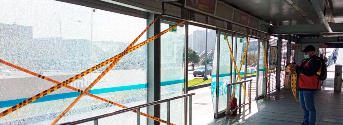 Sin operación 50 estaciones del Sistema TransMilenio